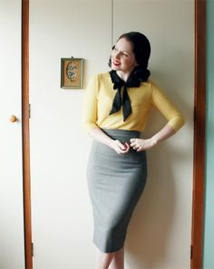 I forget sometimes how wonderful it is to wear a pencil skirt and sweater. :) via Esme and the Laneway
