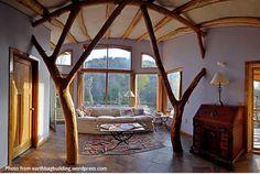 inside an earthbag house