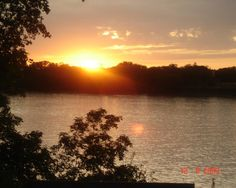 Sunset on the Red River Winnipeg, Manitoba Canada