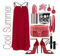 Cool Summer by prettyyourworld on Polyvore featuring River Island, Yves Saint Laurent, Gucci, Stephen Dweck, Chanel, FaceBase, Lime Crime and Urban Decay
