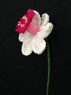 Pink Daffodil - free crochet pattern by Iin Wibisono