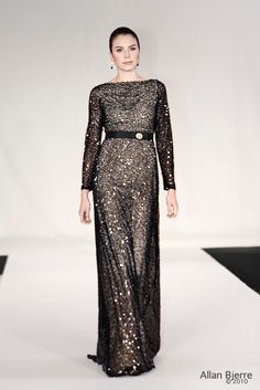 Pearl embroidered dress from Wichmann Couture.