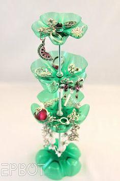 porta jóias de garrafa pet