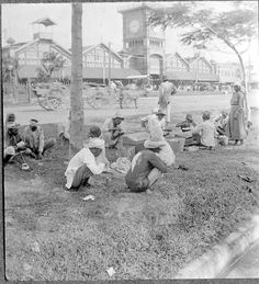 East Indians at their breakfast. 1922. Guyana, South America