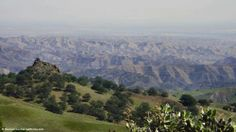 View to the NE from the summit of Parkfield-Coalinga Road into the Central Valley
