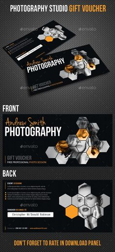 Buy Photography Studio Gift Voucher by rapidgraf on GraphicRiver. Photography Studio Gift Voucher, perfect for photography session, weeding, party, corporate or company events. Staff Motivation, Print Templates, Design Templates, Customer Appreciation, Commercial, Gift Vouchers, Business Card Holders, Gift Certificates, Corporate Gifts