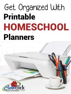 Get Organized With Printable Homeschool Planners Curriculum Planning, Homeschool Curriculum, Teaching Schools, Home Schooling, School Organization, Getting Organized, Planners, Joyful, School Ideas