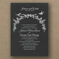 Enchanted Love - Classic Invitation - Black