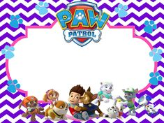 Girl Paw Patrol Free Printable Birthday Invitation size 4x6