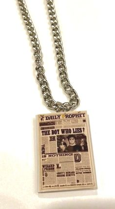 Harry Potter Movie Book Charm Necklace The Daily Prophet Newspaper OOAK #HarryPotter #Charm