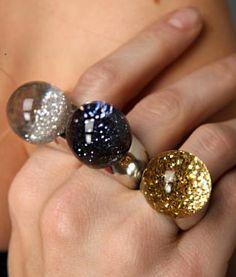 crystal ball rings