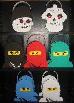 Ninjago party bags, favors, baskets