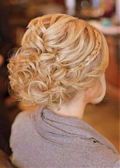 Image result for updos for medium length curly hair