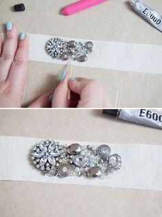 how to make this chic DIY rhinestone bridal sash! DIY // How to make a rhinestone bridal sash!DIY // How to make a rhinestone bridal sash! Diy Hair Accessories, Bridal Accessories, Wedding Jewelry, Diy Jewelry, Jewelery, Jewelry Making, Diy Wedding Dress, Wedding Belts, Wedding Sash