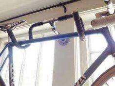 Repurposing handlebars to bike rack