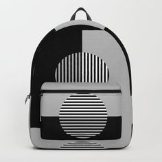 Buy Geometric Zig Zags & Circles Pattern - Black White Gray Backpack by denidesigns. Worldwide shipping available at Society6.com. Just one of millions of high quality products available. Grey Backpacks, Backpacks For Sale, D Craft, Circle Pattern, Designer Backpacks, Zig Zag, One Size Fits All, Online Marketing, Fashion Backpack