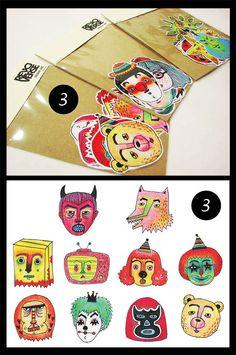 Illustration sticker set - 1
