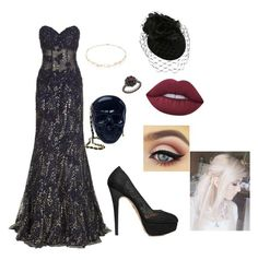 """""""photoshoot"""" by luna-the-outcast ❤ liked on Polyvore featuring Jovani, Charlotte Olympia, Loungefly, Diane Kordas, Lime Crime and Carla Amorim"""