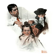 """""""First Haircut"""", August 10,1918 Giclee Print by Norman Rockwell at Art.com"""