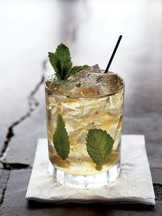 The cold-smoked bourbon mint julep at Good Food on Montford in Charlotte, North Carolina