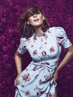 Nº 5 The Lilly Dress    Pia Tjelta by TiMo -- available in Bordeaux / Seeds Print & Sky Blue / Flower Placement [both versions owned by Crown Princess Mette-Marit]