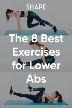 These 8 tough moves tackle your lower abs to build a strong core. #athomeworkouts #abworkouts