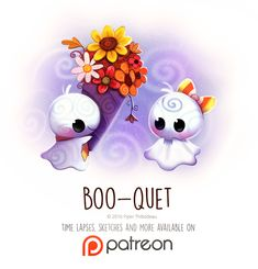 Day 1428. Boo-quet by Cryptid-Creations...