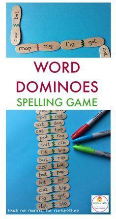 Homemade word domino