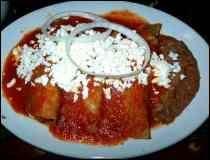 Mexican Enchiladas Rojas Estilo Aguascalientes - Red Enchiladas from the Mexican Regiosn of Aguascalientes