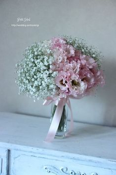 かすみ草ブーケ ピンク baby's breath bouquet pink | パンケーキ | Pinterest | Flowers, Flower and Wedding