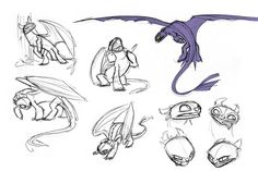 how to train your dragon toothless sketch - Google Search