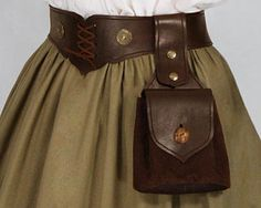 """Leather Bag """"Wotan"""" No. 2 - 41.00USD - Medieval and Renaissance Clothing, Handmade by Your Dressmaker"""