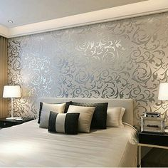 This Is A Classical Damask Design Enhanced With Contemporary Colours And Complimented Shimmering Metallic Look