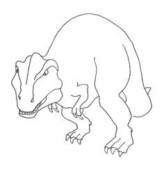 7d447affe9890db0806b99c08ddc9c4a--kids-colouring-pages-tyrannosaurus