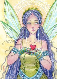 Fairy Art Print Fairy Princess Heart Small Print by sarambutcher, $10.00