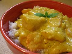 kurczak curry Thai Red Curry, Meat, Chicken, Ethnic Recipes, Food, Recipes, Meals, Cubs