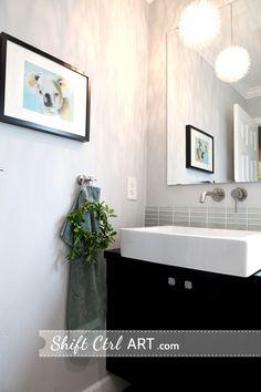 Powder room turned full bath part III - the reveal