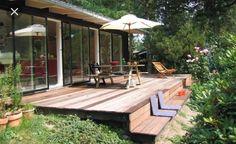 Trin/lille terrasse til udestuen