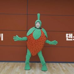 Strawberry Costume, Cute Strawberry, Fantasy Characters, Anime Characters, A Love So Beautiful, Korean K Pop, Funny Kpop Memes, Blackpink And Bts, Cute Anime Character