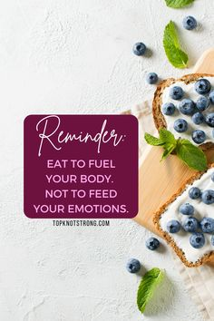 Eat to fuel your body and not to feed your emotions. Food is fuel. Bodybuilding Motivation Quotes, Bikini Competitor, Food Is Fuel, Top Knot, Knots, Eat, High Bun, Buttons