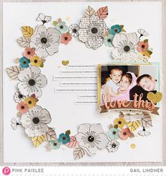 #papercrafting #scrapbook #layout by Gail Lindner