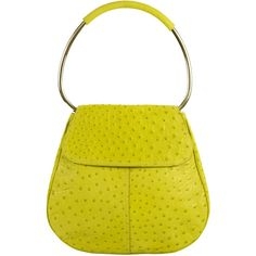 Pre-Owned Prada Lime Green Ostrich Shoulder Bag Handbag (2,900 ILS) ❤ liked on Polyvore featuring bags, handbags, shoulder bags, lime, prada purses, man bag, yellow purse, handbags purses and hand bags