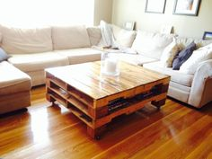 Pallet Coffee Table by TheBrainsandTheBrawn on Etsy