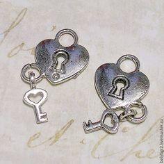Купить подвеска Сердце, 26 х 13 мм, цинковый сплав, цвет серебро, 1 шт.