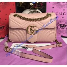 26abcce2516 Gucci Small GG Marmont Matelasse Shoulder Bag Pink – LuxTime DFO Handbags  Purses And Handbags