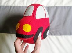 If your little one loves cars as much as my sons do, this plush car is perfect for you!  It features all the things your little one is used to