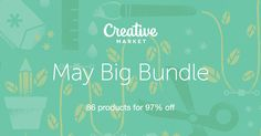 Get great ideas from Creative Market, and the fonts and graphics available are great!