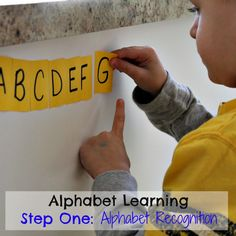 Alphabet learning begins with alphabet recognition activities for preschoolers - here are some amazing ones!  And lots of information on steps and stages of literacy development too.