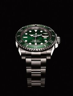 You will not regret buying Green Rolex Submariner or Hulk Submariner. It looks much better on the wrist. by rolex. Fine Watches, Cool Watches, Rolex Watches, Stylish Watches, Wrist Watches, Sport Watches, Omega Seamaster, Rolex Diamond Watch, Luxury Watches