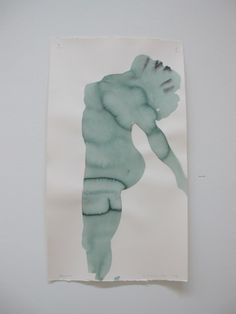 Marlene Dumas...cool to mask off area with tape and watercolour away...
